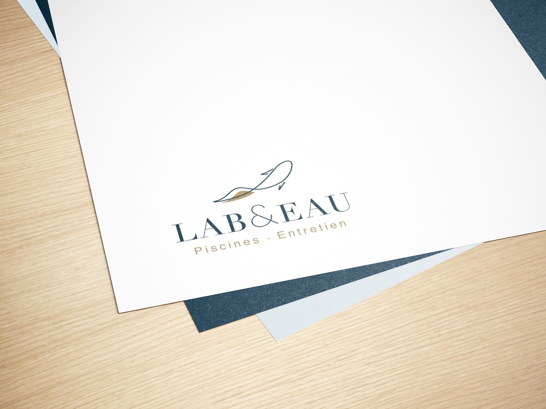 création logo lab & eau