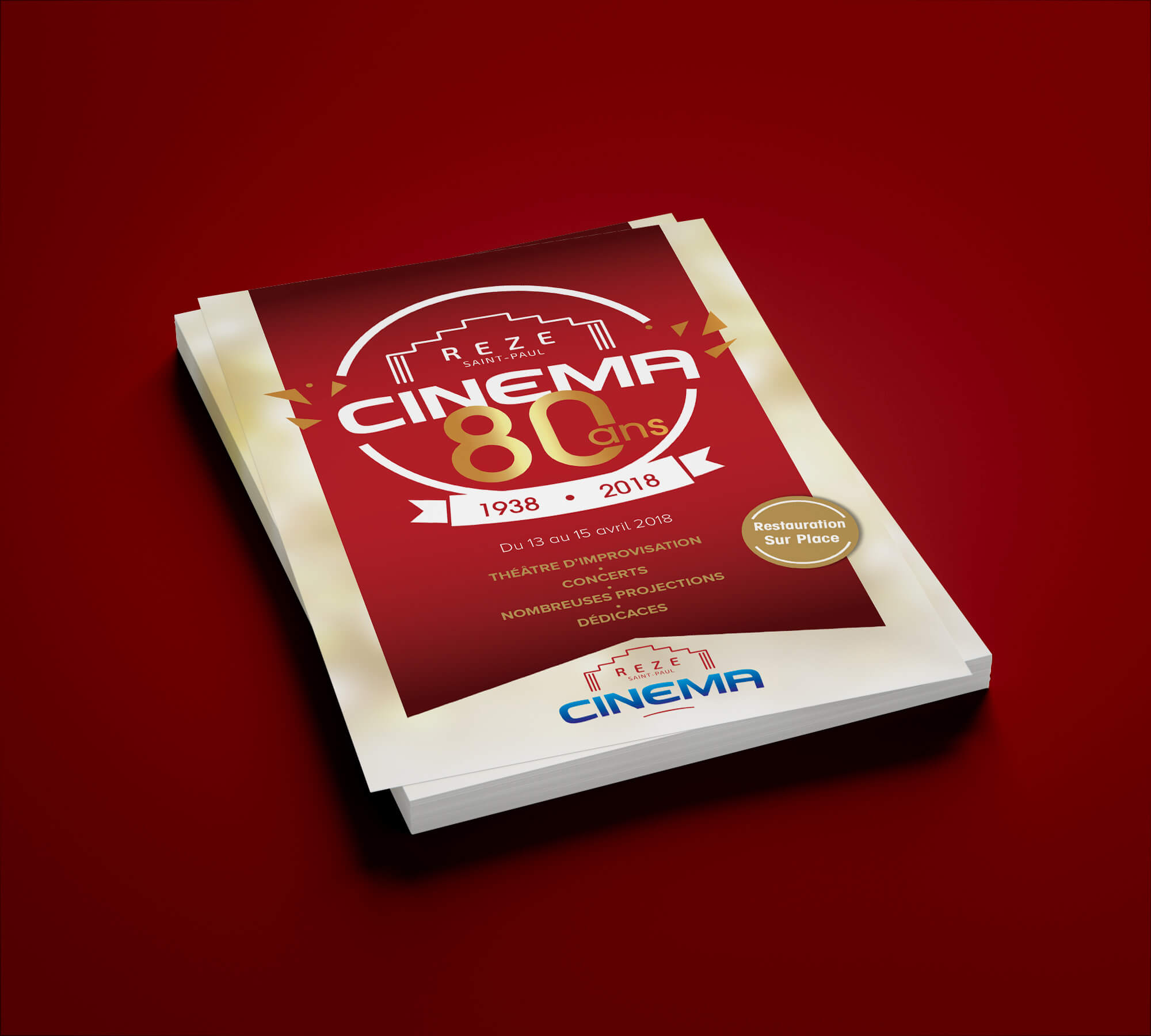 flyer évènementiel cinéma st paul rezé