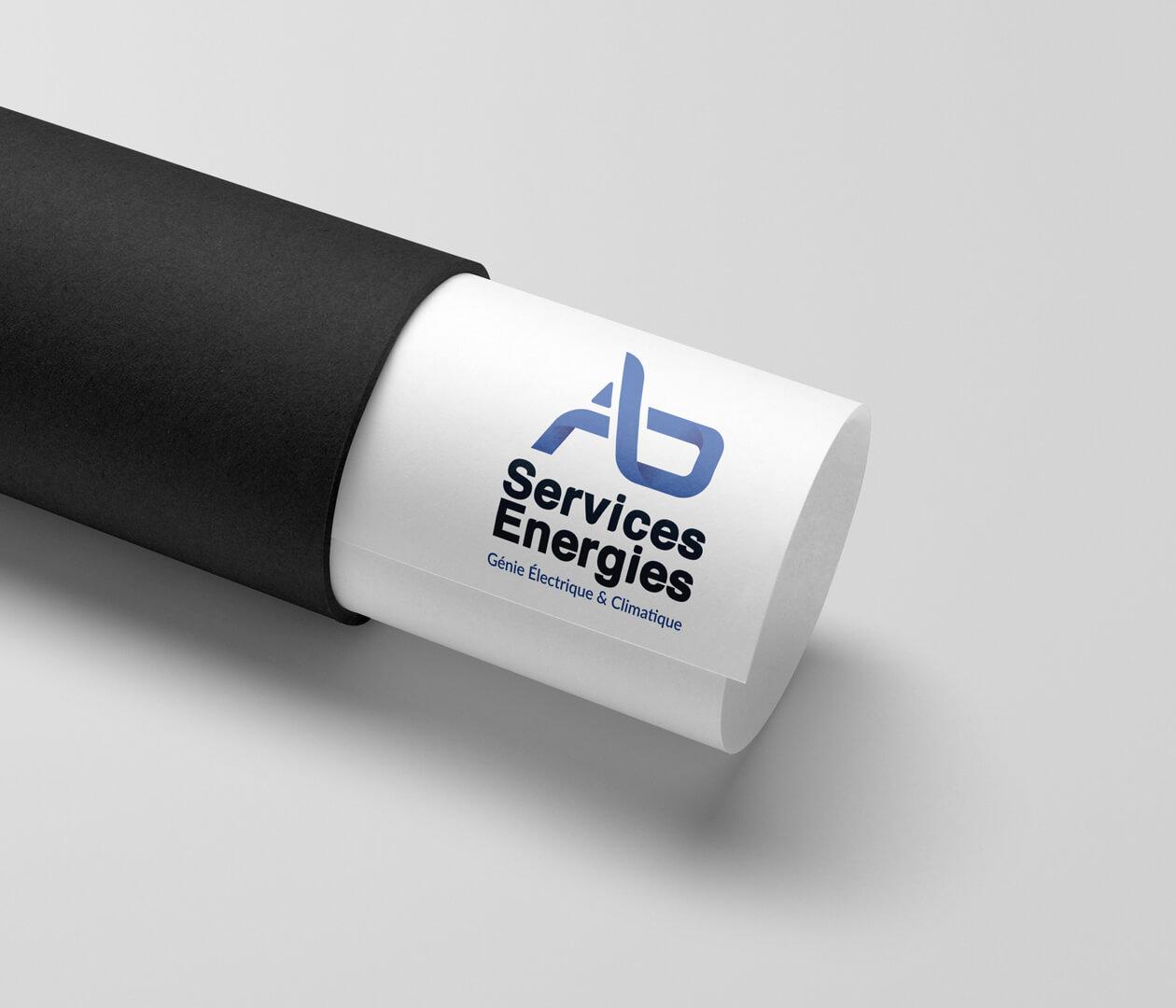 création logo ab services énergies