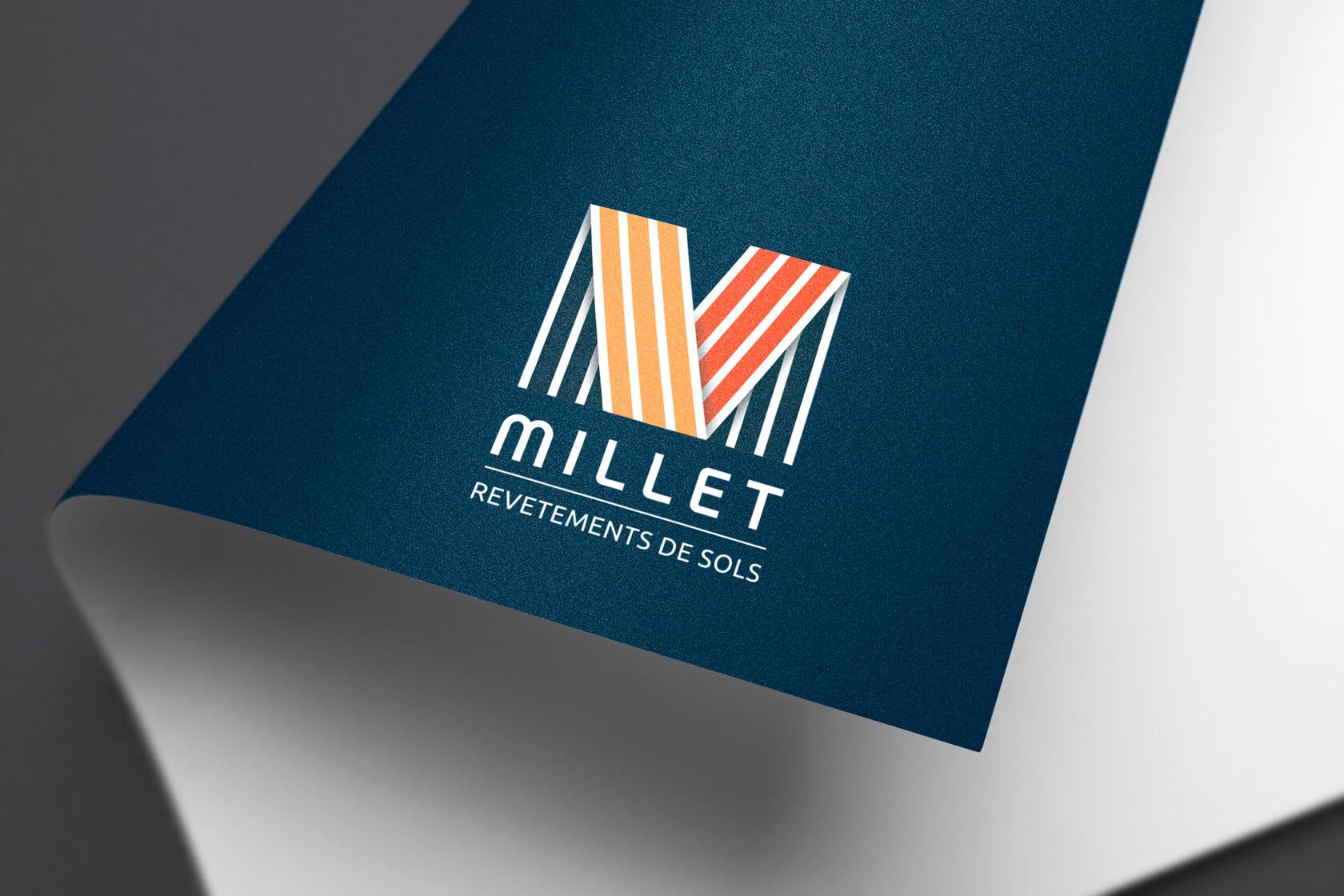 création logo millet revêtements de sols