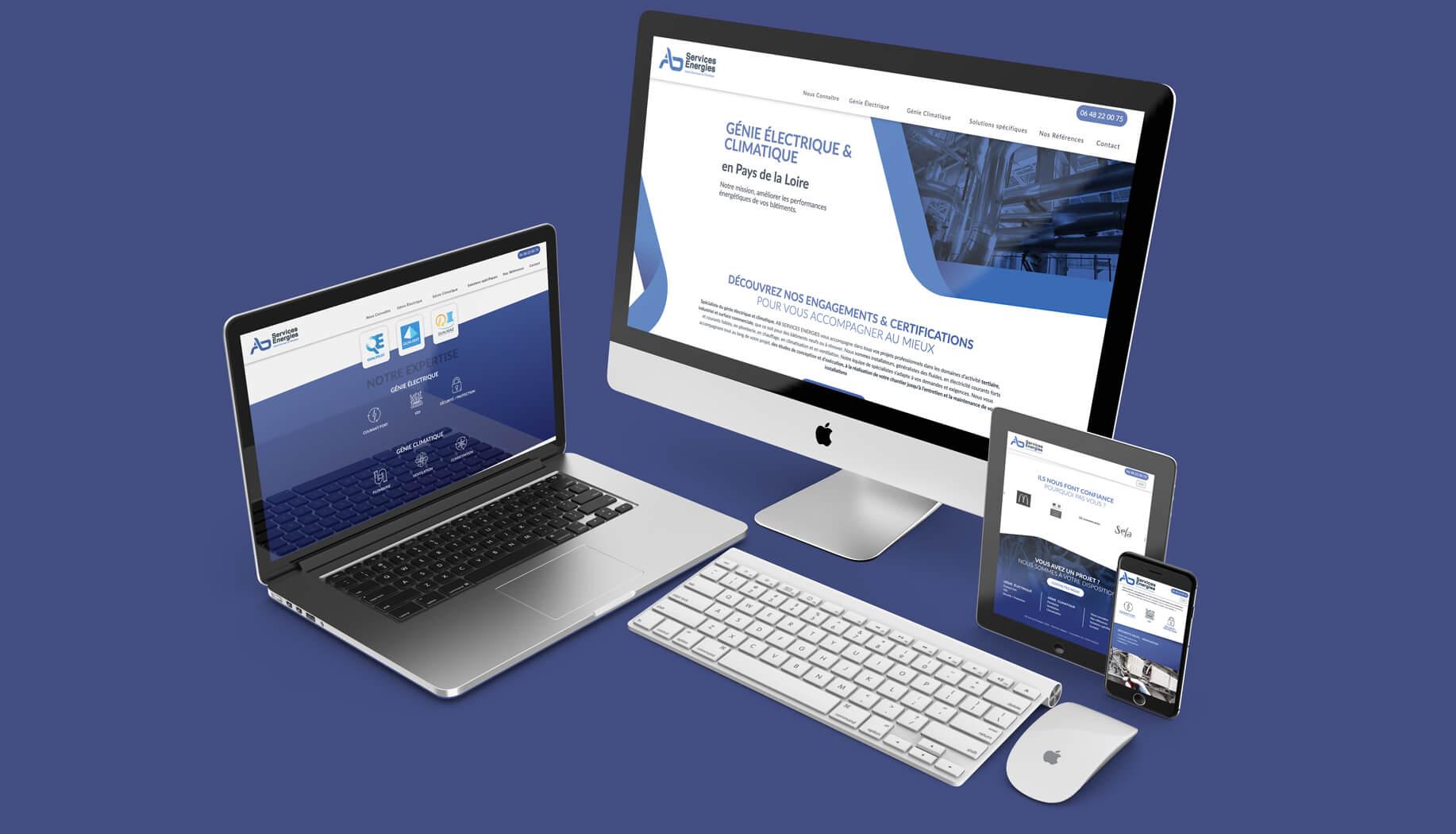 création site internet sur mesure ab services énergies